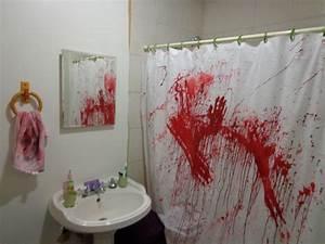 Create a bathroom murder scene for Crime scene bathroom decor