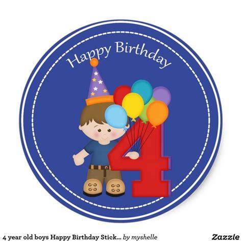 year  boys happy birthday sticker zazzlecom