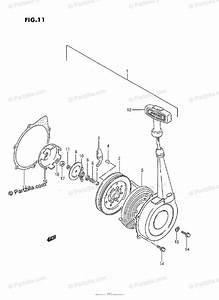 Suzuki Atv 1992 Oem Parts Diagram For Recoil Starter