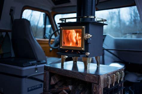 easily install  wood stove   camper van