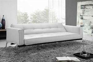 romano convertible sofa bed in white eco leather With white leather convertible sofa bed