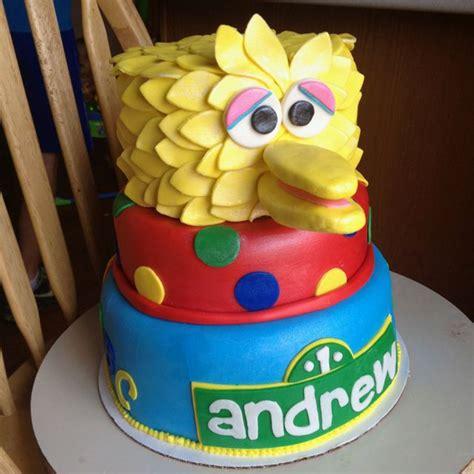 big birdsesame street st birthday cake    door