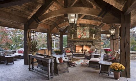 Ideas For Outdoor Patios by Patios With Fireplaces Outdoor Covered Patio With