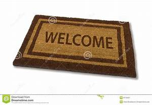 Welcome Mat Stock Image - Image: 8119451