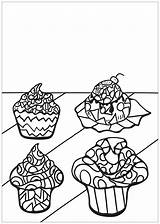 Cupcake Cupcakes Cakes Colorear Cup Colorare Disegni Adulti Coloring Erwachsene Malbuch Fur Pasteles Adultos Dibujos Zentangle Muffins Muffin Justcolor Coloriage sketch template