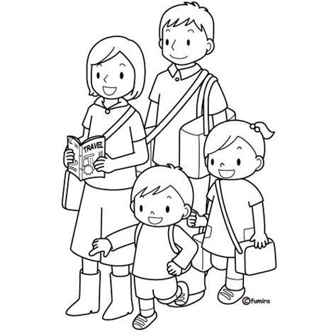coloring pages family picture