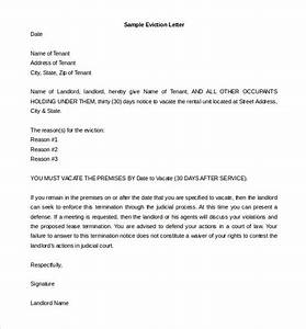 6 eviction letter templates free sample example format With sample letter of eviction notice free