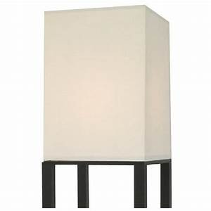 threshold shelf floor lamp with white shade black home With thresholdtm shelf floor lamp with white shade black
