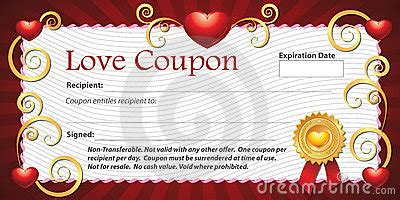 blank love coupon stock images image