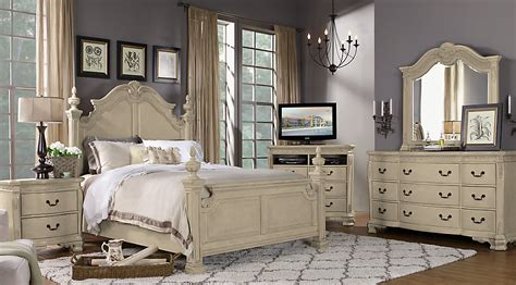 cortinella cream  pc queen poster bedroom queen bedroom