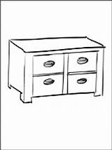 Coloring Cabinet Pages Furniture Printable sketch template