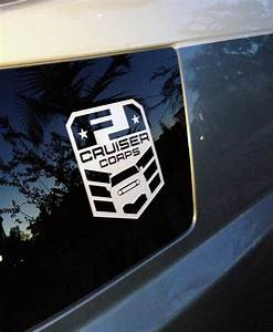 product 2x fj cruiser corps window vinyl decal sticker With kitchen cabinets lowes with ford truck window sticker