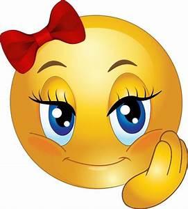 Cute Girl Smiley Faces | Cute Pretty Girl Smiley Emoticon ...