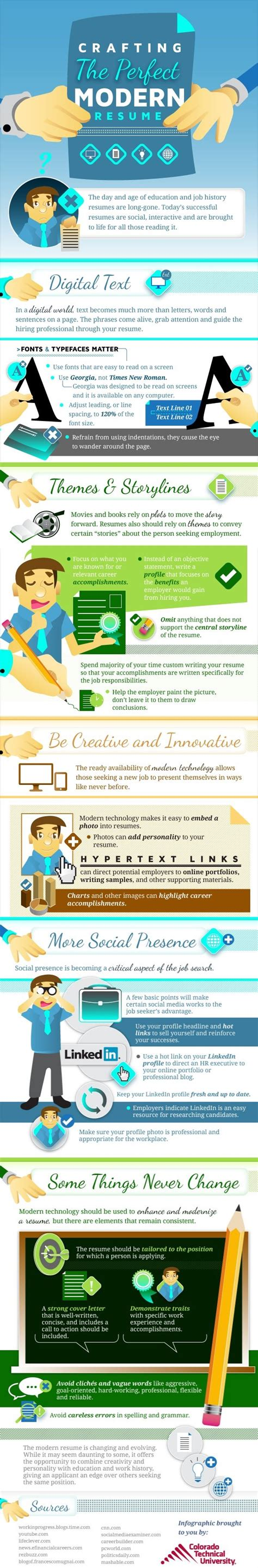how to craft the modern resume infographic the