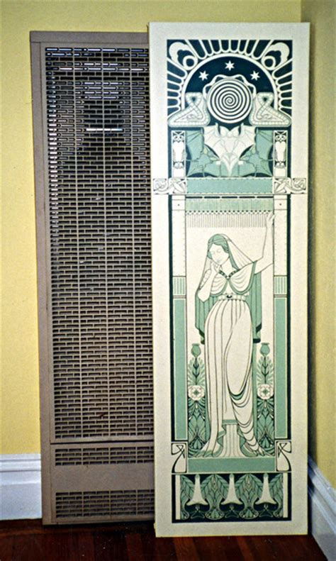 adrian card decorative painting gallery murals heater covers - Wall Heater Covers Decorative