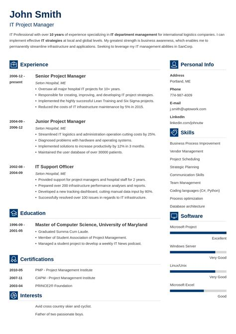 Professional Resume Template by My Resume Zety Resume Templates Resume Templates