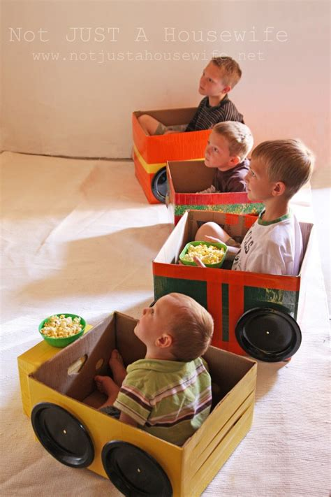 box car for kids cardboard cars for a homemade drive in theater not just