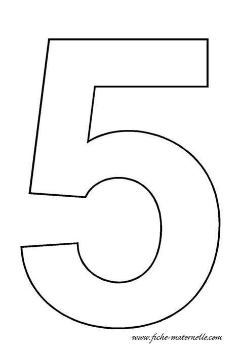 template for cake number 5 template classroom pre school numbers and maths