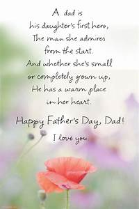 """Father's Day Poem from Daughter"" 
