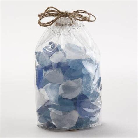 World Market Vases - blue seaglass vase fillers world market