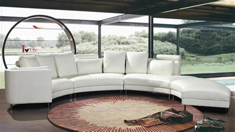 Chesterfield White Leather Sofa by 25 Contemporary Curved And Round Sectional Sofas