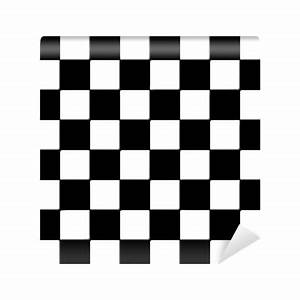 Black and white checkered tiles texture Wall Mural - Vinyl ...