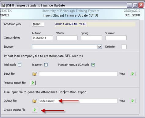 acr  users guide student systems student administration