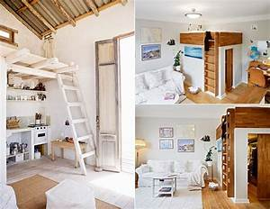 Kleine Wohnung Einrichten Ideen : kleine wohnung einrichten mit hochbett kreative einrichtungsbeispiele f r kleine schlafzimmer ~ Sanjose-hotels-ca.com Haus und Dekorationen