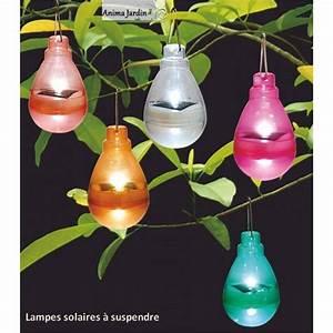 Lampe De Jardin : lampes solaires color es suspendre d co jardin pas cher achat ~ Teatrodelosmanantiales.com Idées de Décoration