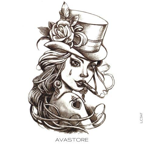 tatouage temporaire femme poker tatouages temporaires