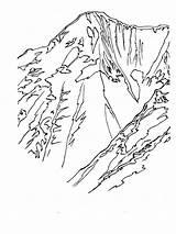 Coloring Mountains Printable Ausmalbilder Berge Nature Kostenlos Malvorlagen Ausdrucken Zum sketch template