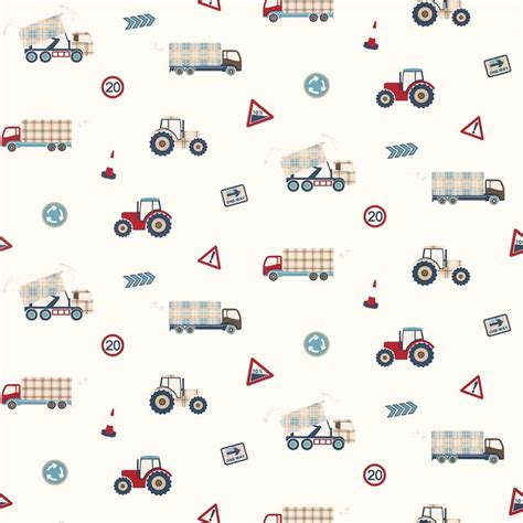 Truck Wallpaper Childrens Decor by Tractors And Trucks Wallpaper Room Barnrum