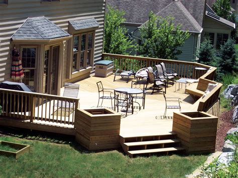 Backyard Deck Plans by Deck Decorating Ideas As What Make Pleasure Affordably