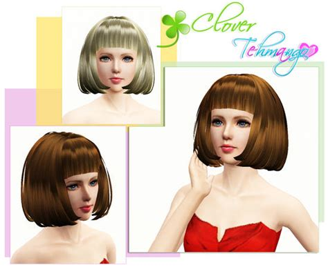 hair styles the sims 3 clover hairstyle by tehmango 4980