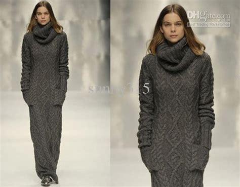 Women Sweater Maxi Long Knit Dress Dresses Outerwear Ladies Sweatershirts Long Skirts Winter