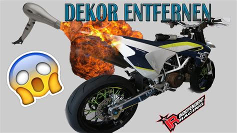 Motorrad Dekor Richtig Entfernen! Husqvarna 701 [tutorial