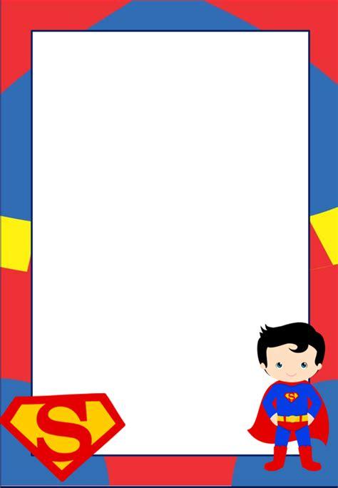 marcos invitaciones tarjetas o etiquetas de superman para imprimir gratis oh my friki
