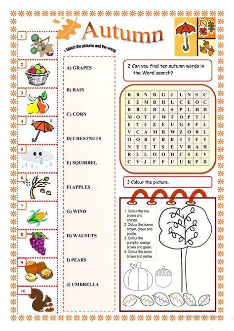 58 Free Esl Autumn Worksheets