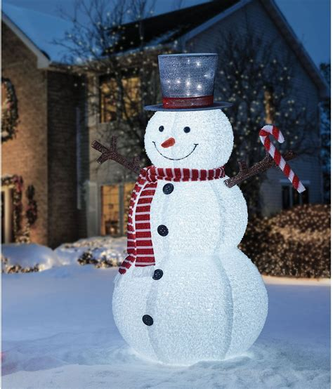 outdoor lighted snowman 72 quot pop up snowman led lights patio outdoor