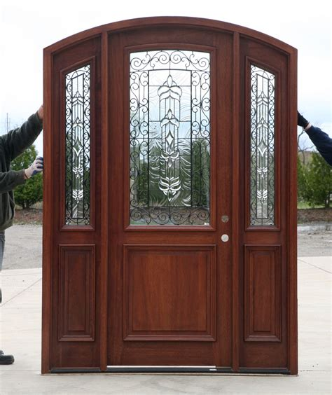 doors with sidelights radius arch top door with sidelights