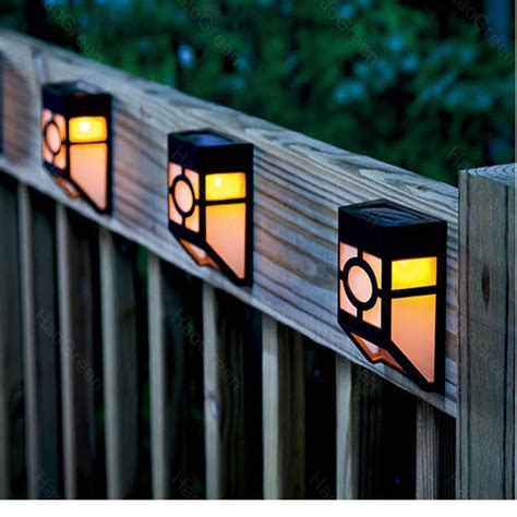 led wall l solar powered led path fence l outdoor
