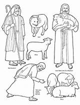 Shepherd Coloring Pages Jesus Bible Shepherds Lds Sheep Stories Flannel Board Story Christ Lost Shepard Clip Friend He Sunday Parable sketch template