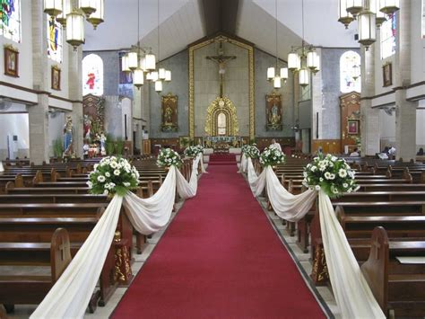 simple wedding church decorations church wedding