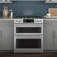 "ge cafe dual fuel C2S995SELSS | GE Cafe 30"" Slide In Dual Fuel Double Oven ..."