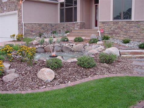 yard landscaping planter ideas for front of house home design