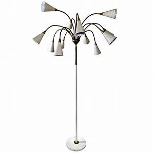 Medusa 12 shade floor lamp in the style of stilnovo for for Ottoni floor lamp replacement shades