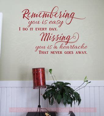 missing    heartache vinyl lettering quote wall