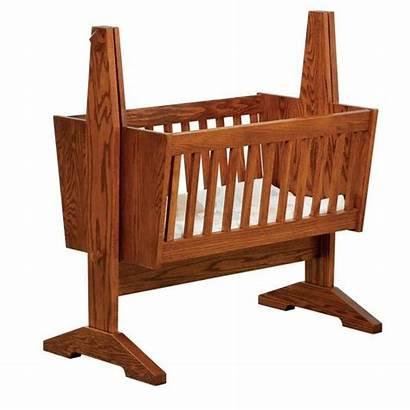 Cradle Bassinet Wood Furniture Amish Wooden Mission