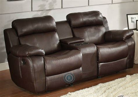 Dual Glider Reclining Loveseat by Marille Brown Glider Reclining Loveseat From