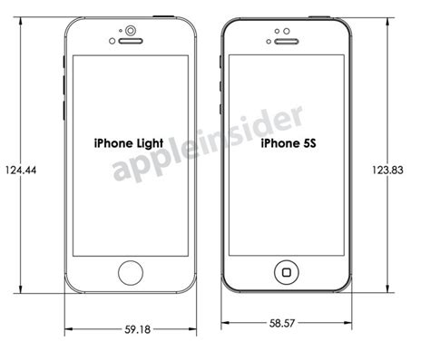length of iphone 5s design drawings reveal makers expectations for